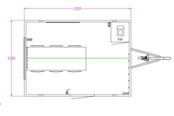 Scanvogn – Office Trailer 320 (3.2 x 2.28 x 2.9 m)