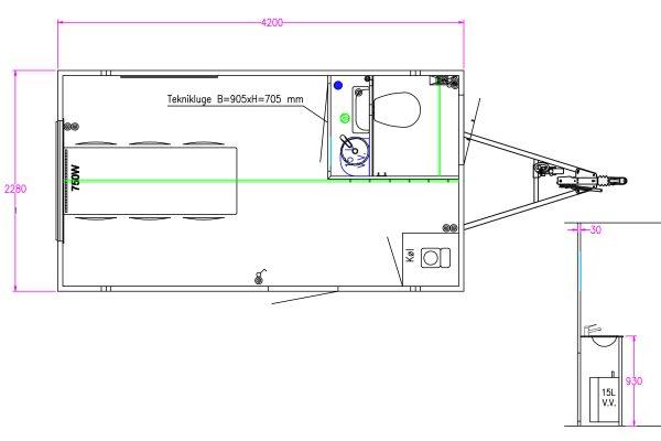 Scanvogn – Office Trailer 420 (4.2 x 2.28 x 2.9 m)