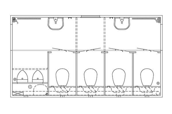 Scanvogn – 4+2 Toilet Trailer 420 (4.0 x 2.1 x 2.1m)