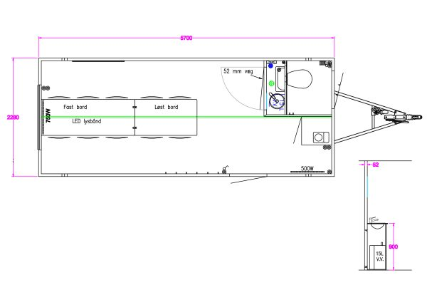 Scanvogn – Office Trailer 570 (5.7 x 2.2 x 2.9 m)
