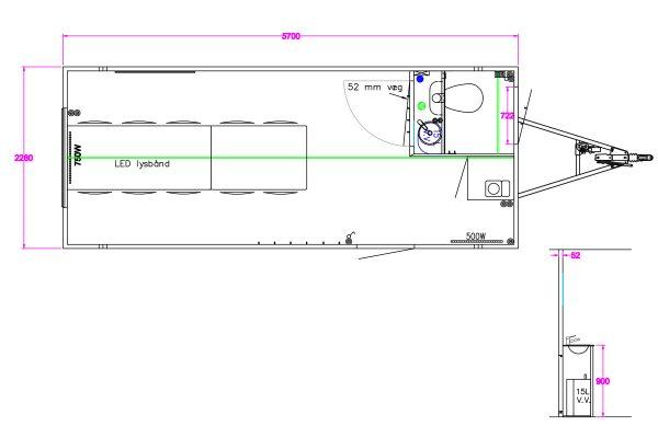 Scanvogn – Office Trailer 570 (5.7 x 2.2 x 2.9 m)