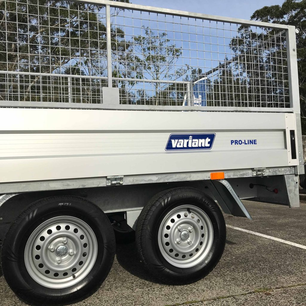 Trailer weights- the Variant Pro-Line trailers have low tare weights and high payload capacities.