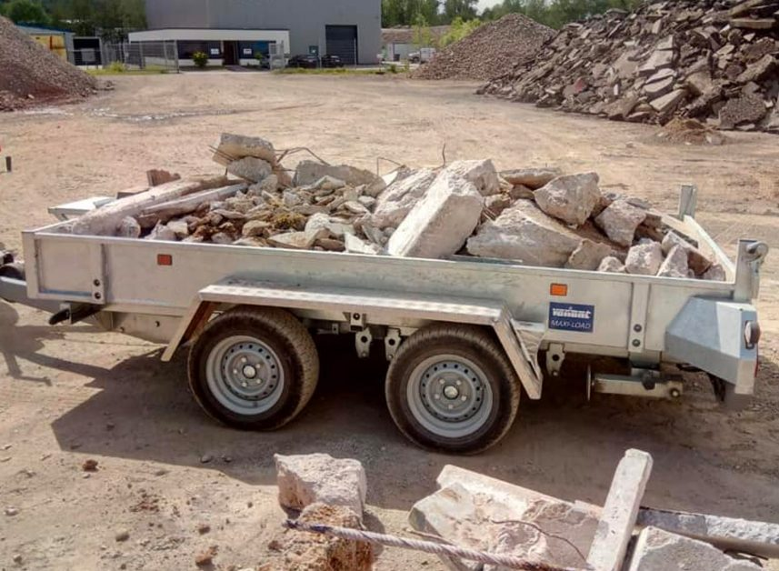 tough trailer machine loader tipper